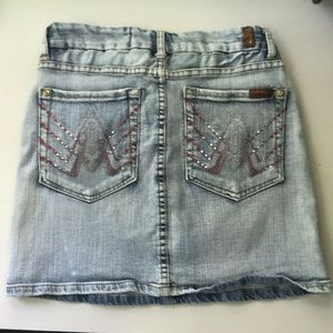 "7 for all Mankind denim skirt 28"" waist"
